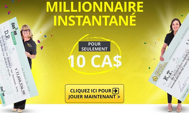 Gagnants au Grand Mondial Casino