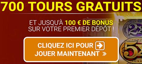 Quatro Casino - Jusqu'à 700 tours gratuits