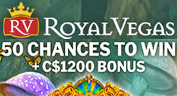 50 Absolootly Mad free spins with Royal Vegas