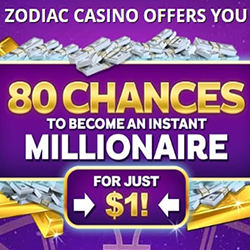 Zodiac Casino - A NZ$1 deposit offer