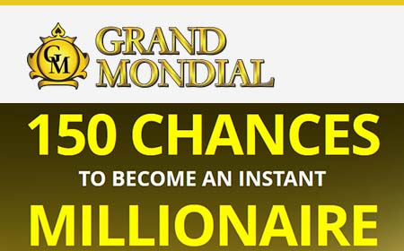 150 free spins trick at Grand Mondial