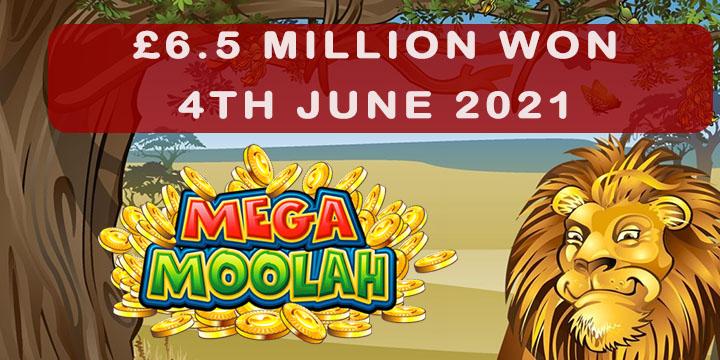 Mega Moolah jackpot won on 4th June 2021