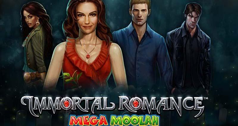 Spins on the Immortal Romance Mega Moolah Slot Machine